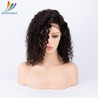 Перуанский волна воды натуральные волосы Парики 130 150 180 плотность бесклеевого натуральные волосы парики Реми предварительно сорвал парики,