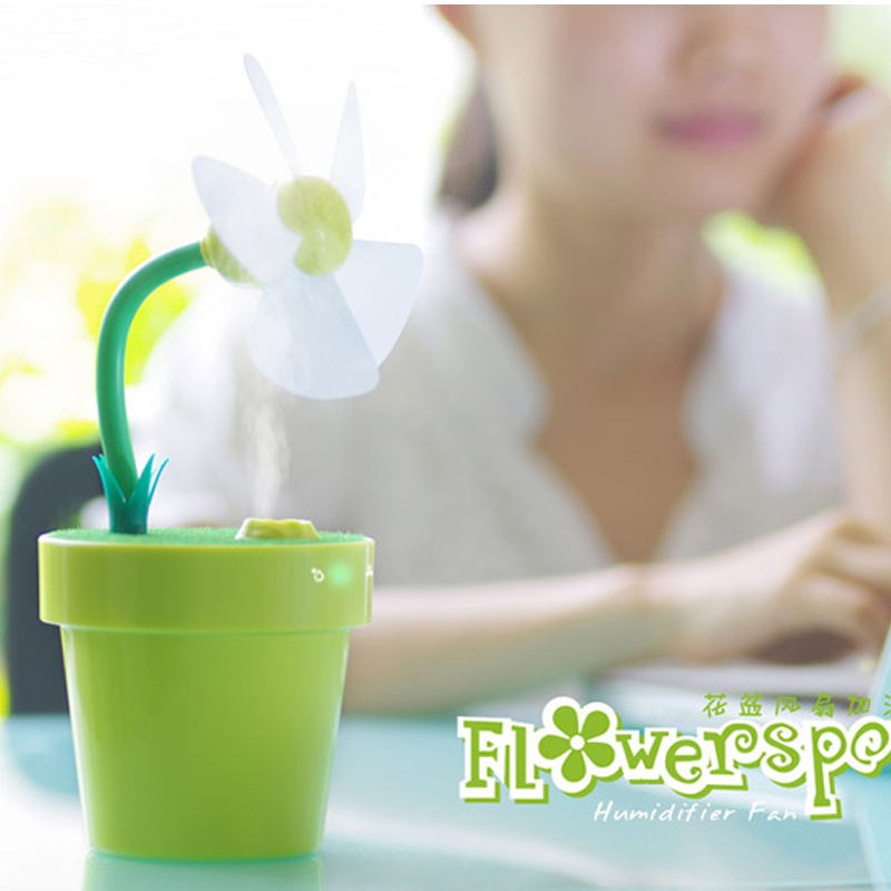 Dole flower pot fan air humidifier mini fan usb mi...