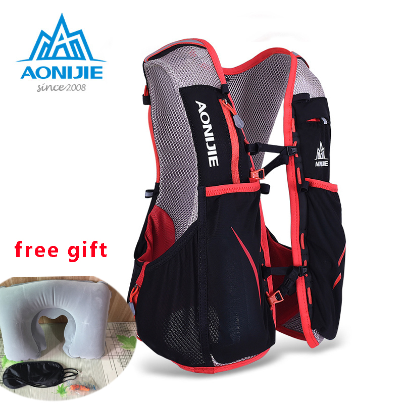 AONIJIE Professional Women Men Marathon Hydration Vest Pack For 1.5L Water Bag Cycling Hiking Bag Outdoor Sport Running Backpack 3l tactical water bottle bag knapsack hydration backpack pouch hiking camping cycling pack canteen water bag molle
