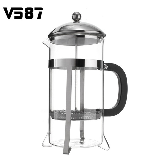 1000ml Gl Stainless Steel Coffee Maker Machine Press Filter Percolator Home Cafetiere Barista Making Tools