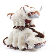 Free shipping 30-50CM Last Airbender Appa & Winged Lemur Momo Plush Toy for children chirstmas birthday gift(China)
