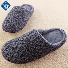 New Knitting Crochet Slippers Women Men Couples Plush Winter Home Shoes Soft Floor Household Indoor Pantufas Pantuflas Pantofole