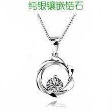 925 sterling argent collier conception courte femelle chaîne cristal zircon pendentif brève bijoux en argent