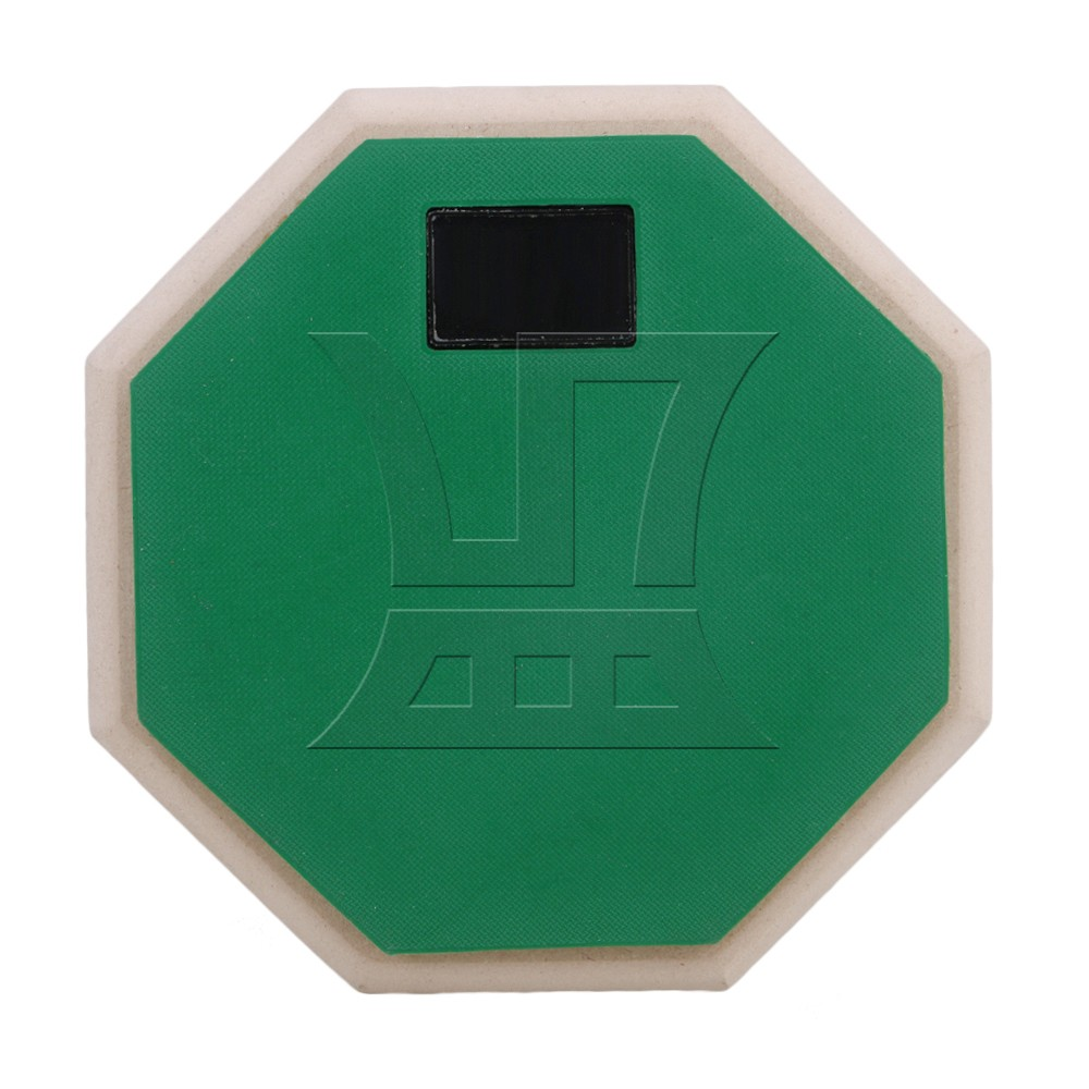 Yibuy Green 6 Double Sided Snare Dumb Drum Practice Pad Realistic Feel перкуссия и пэд millenium mps 400 stereo snare pad