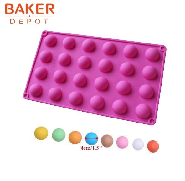2.8cm 반원형 초콜릿 금형 얼음 트레이 금형 실리콘 케이크 금형 창조 DIY 베이킹 도구 SICM - 020-3