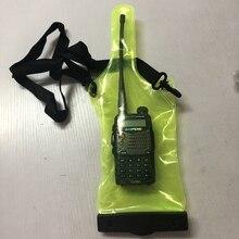 Walkie talkie su geçirmez çanta kılıfı taşınabilir radyo su geçirmez kılıf baofeng walkie talkie için UV5R UV82 BF 888S UVB6 9R GT 3 WLN