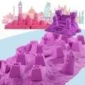 Nuevo 500 g/bolsa play juguetes arena colorida diy de los niños de interior al aire libre para la construcción de modelo de arcilla pintura niños educativos del juguete de la playa