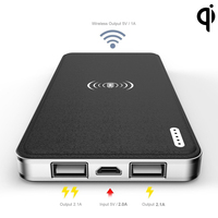 Black Qi Wireless Charger Transmitter Pad Mat Plate Qi Wireless Charging Receiver Back Cover Power Charging