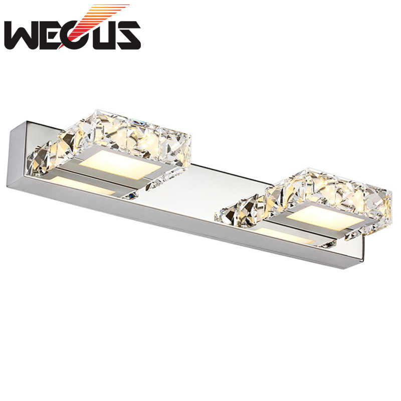 Modern 6W led indoor wall light 32cm crystal bathroom cabinet mirror lamp decoration sconce