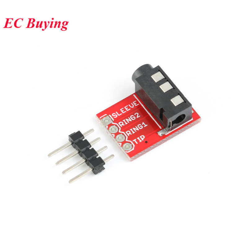 TRRS 3.5mm Stereo Headphone Microphone Interface Module MP3 Audio Dock image
