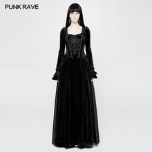 PUNK RAVE Women Long Dress Gothic Vintage Gorgeous Wedding Evening Party  Victorian Palace Sleeve for