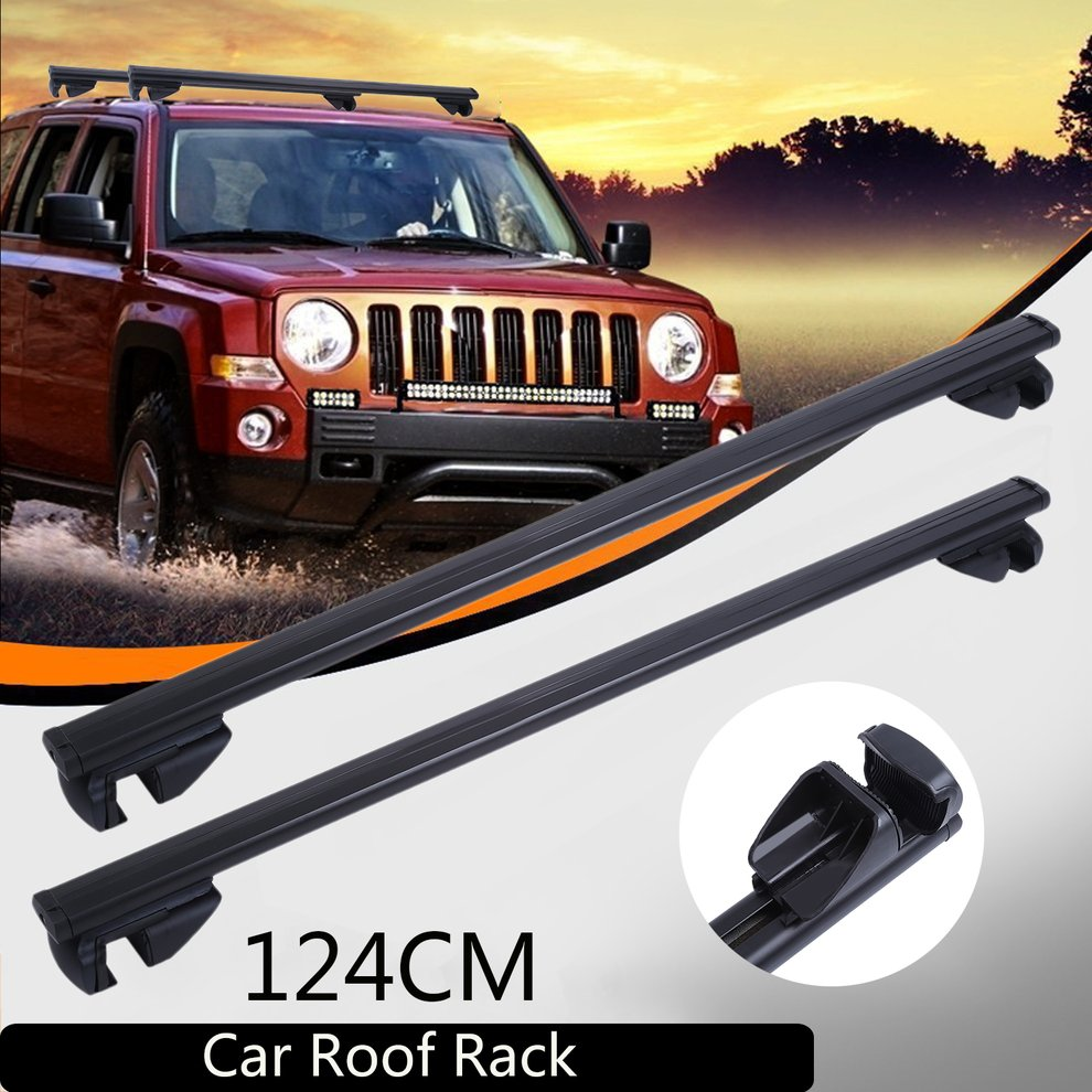 Universal Car Roof Rack Cross Bars Vehicle Cargo Luggage Carrier Auto Roof Rails With Anti theft Lock Easy Fit 124CM