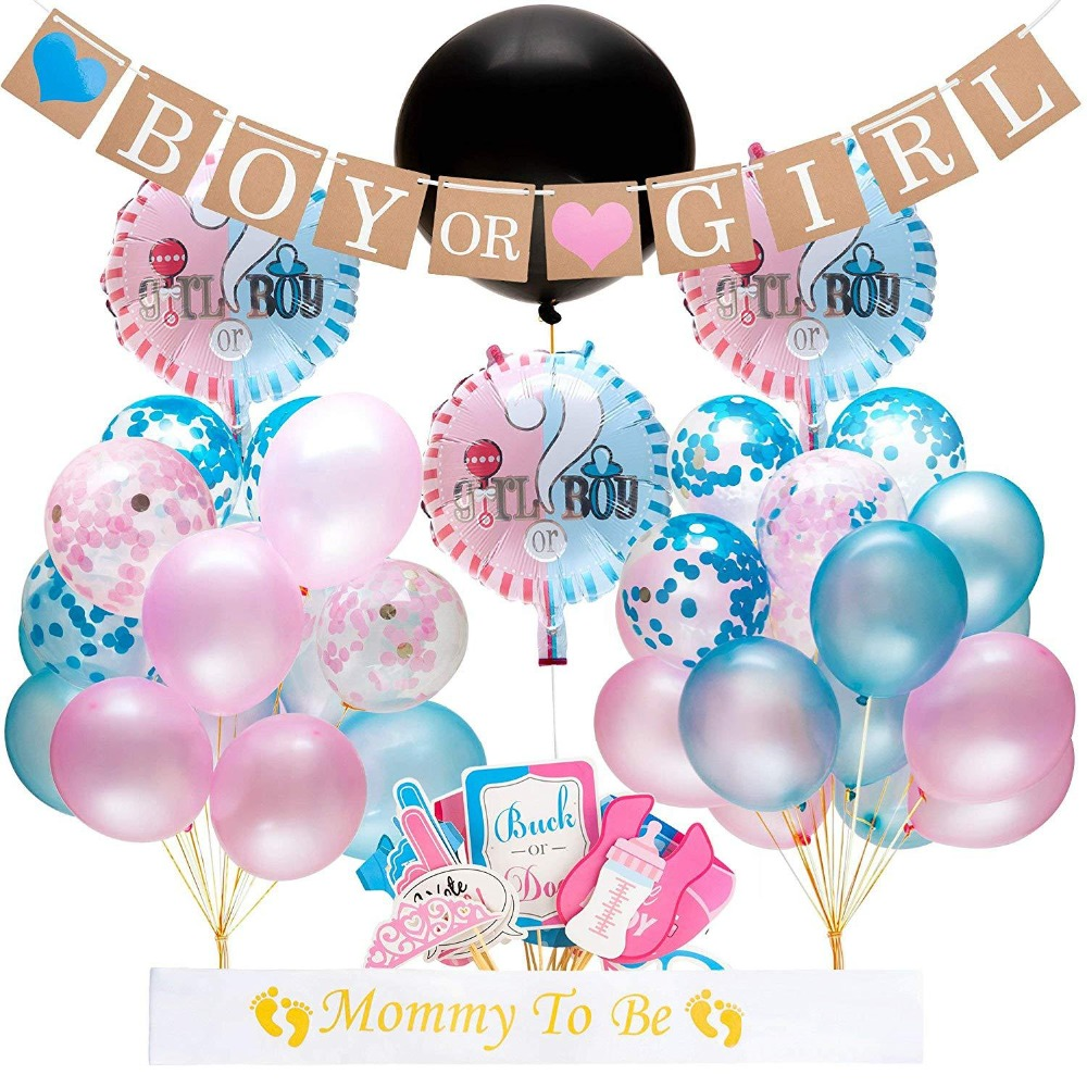 64pcs/lot Gender Reveal Balloon Party Supplies 36 Inch Gender Reveal Boy or Girl Banner Confetti Foil Balloon64pcs/lot Gender Reveal Balloon Party Supplies 36 Inch Gender Reveal Boy or Girl Banner Confetti Foil Balloon