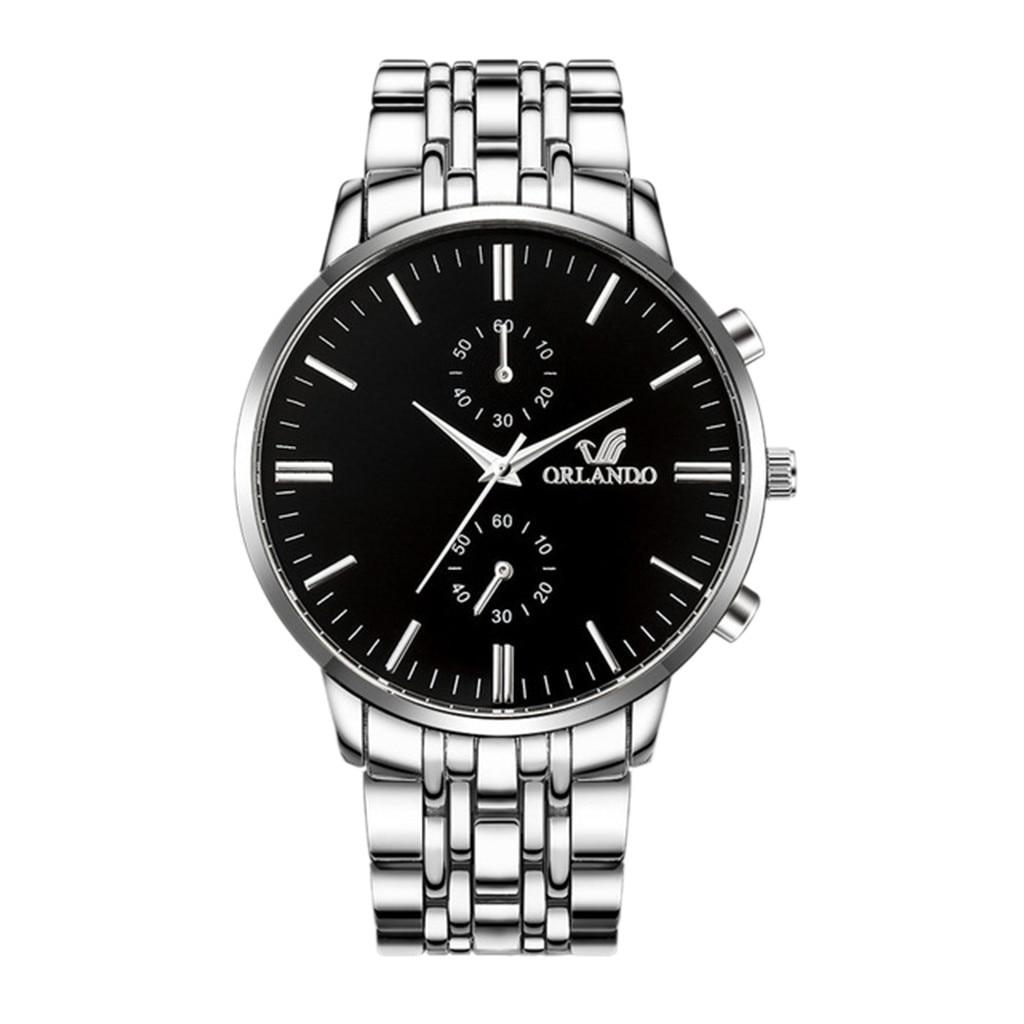 ORLANDO Men Wrist Watches 2019 Quartz Luxury Business Man Watches Men Watch Metal Relogio Masculino