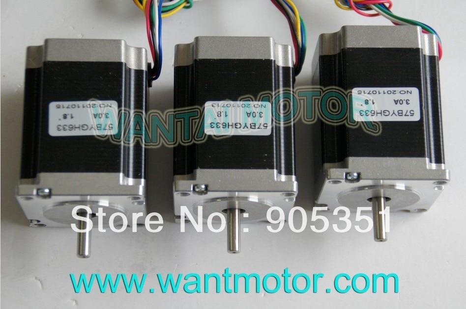 цена на SALE--3PCS CNC NEMA 23 Wantai Stepper Motor 6-Leads ,270oz-in, 1.8Degree, 78mm 57BYGH633, CNC mill equipment !! High quality !