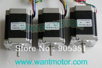 SALE--3PCS CNC NEMA 23 Wantai Stepper Motor 6-Leads ,270oz-in, 1.8Degree, 78mm 57BYGH633, CNC mill equipment !! High quality !