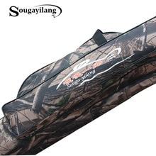 Sougayilang Waterproof Cloth Fishing Rod Bag 130cm 2-Layer Folding Bag Seawater Saltwater Freshwater Rod Fishing Bag De Pesca