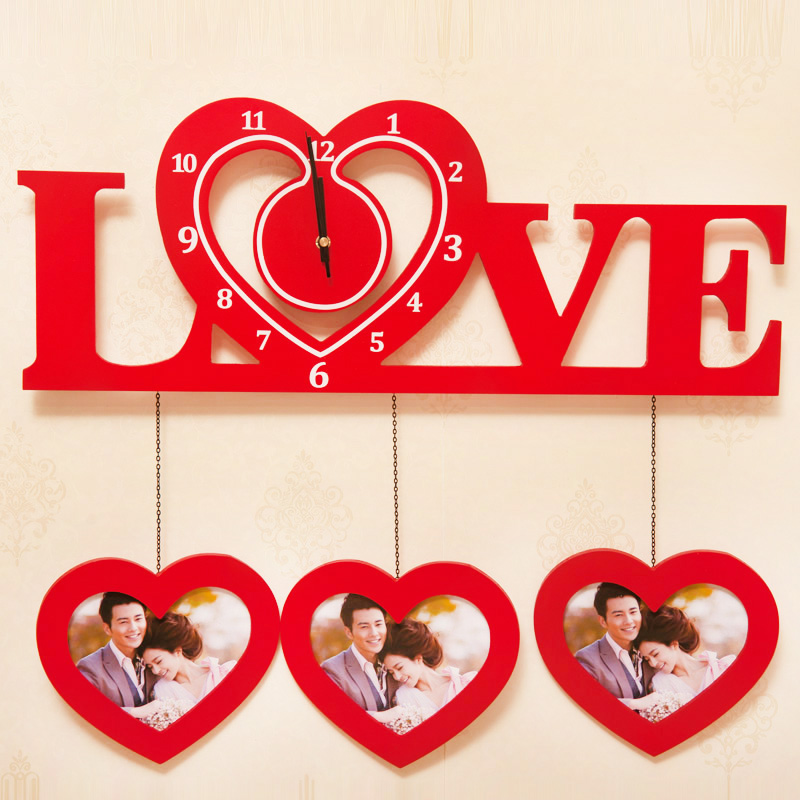 Специальное предложение Деревянные стены творческая фото стена Европейский стиль гостиная Свадебные подарки фоторамка деревянный стол