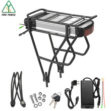 "E Bike Rear Rack Lithium ion Battery 48V 36V 16Ah with Carrier fit for 26""-28"" V-brake of rear wheel for 500W 1000W 8fun Motor(China)"
