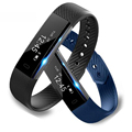 Id115 pulseira smartband atividade rastreador de fitness relógio vibrando despertador inteligente fitbit pk xiomi xiaomi meizu mi banda 2