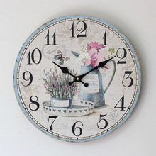 2016 New Arrival Digital Clock Good Quality Machine Core Electronic Wall Painted Floral Design of 0002T