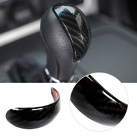 1Pcs Carbon Fiber ABS Gear Lever Shift Knob Collars Cover Trim For Nissan Patrol Y62 2012 2018 New Fashion
