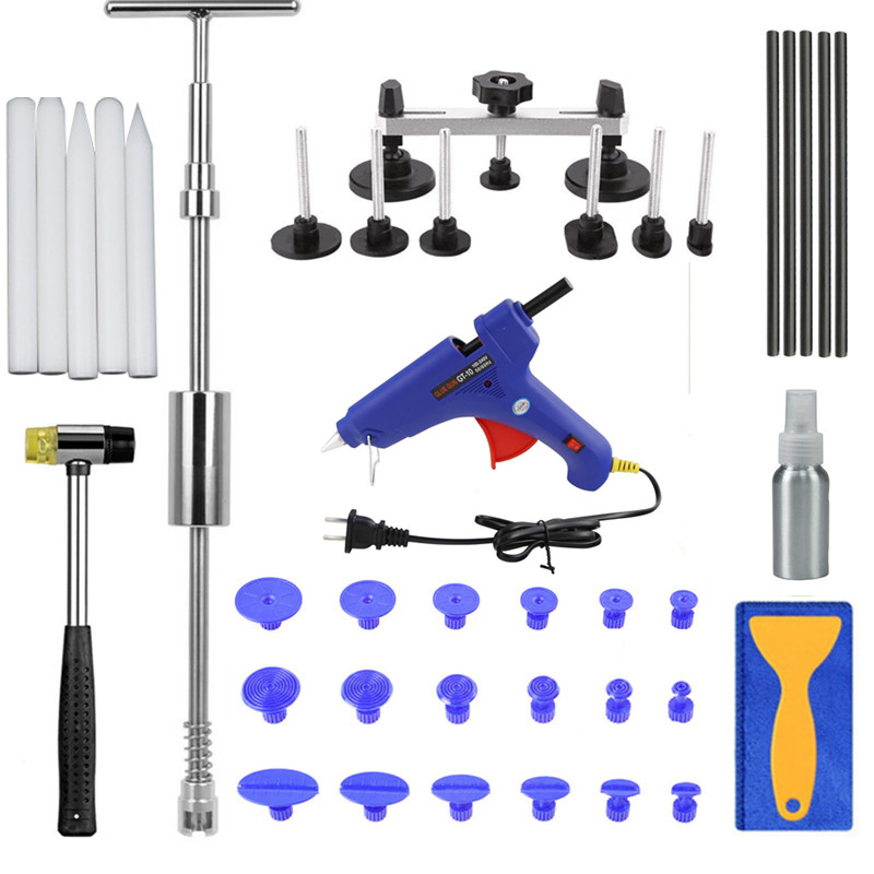 PDR Auto Body Paintless Dent Removal Repair Tools Kits Bridge puller Slide Hammer Glue Puller Automotive Door Ding Dent whdz pdr auto body paintless dent removal repair tools kits bridge puller 2in1slide hammer glue puller automotive door ding dent