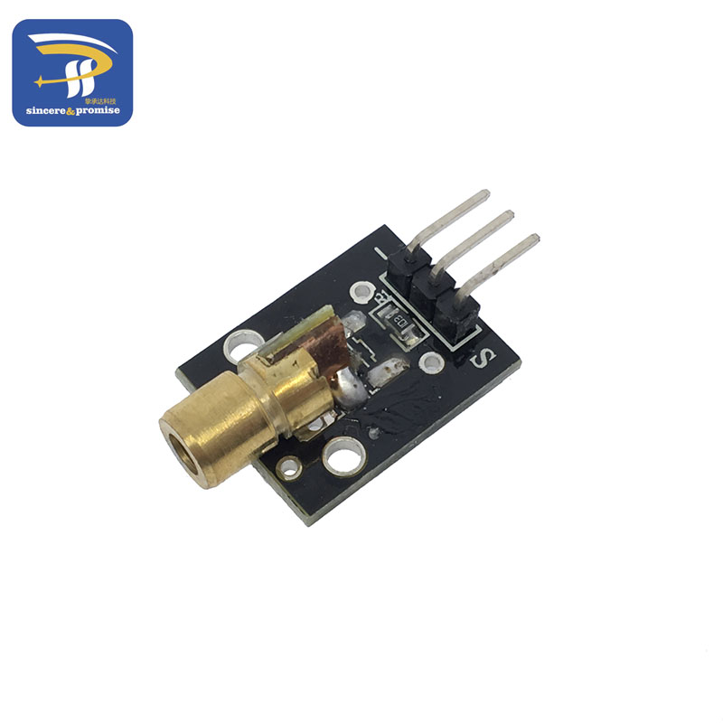 Sensor laser vermelho para arduino, KY-008 650nm 6mm 5v 5mw ponto diodo de cobre cabeça para arduino