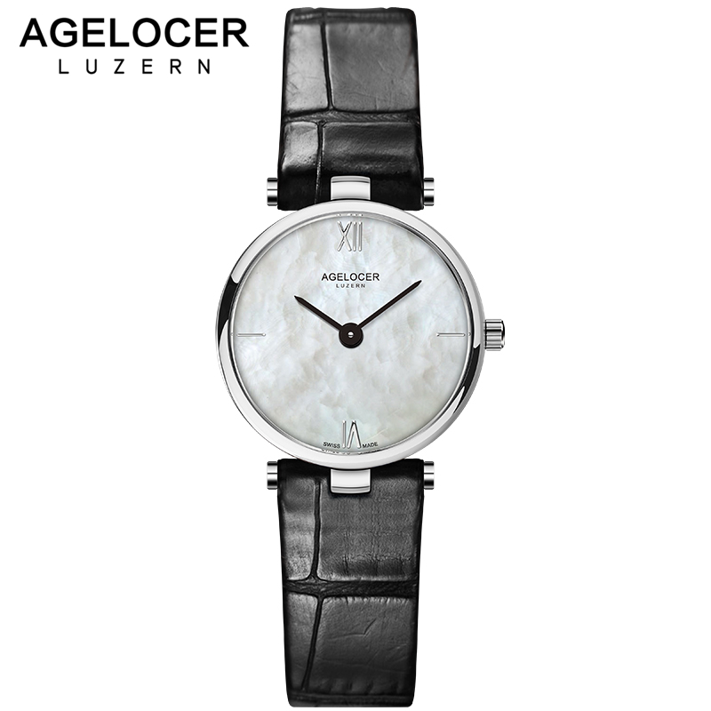 Swiss Fashion Brand AGELOCER Dress Gold Quartz Watch Women Clock Female Lady Leather Strap Wristwatch Relogio Feminino Luxury swiss fashion brand agelocer dress gold quartz watch women clock female lady leather strap wristwatch relogio feminino luxury