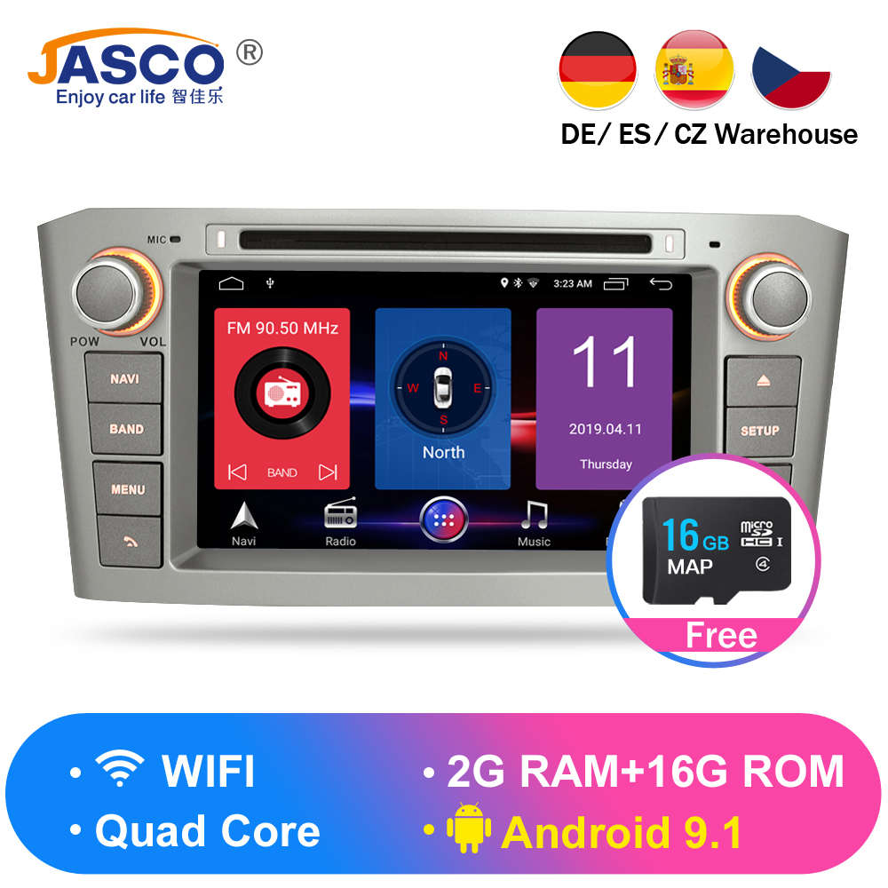 RAM Android 9 1 9 0 Car DVD Stereo Multimedia Headunit For Toyota Avensis T25 2003