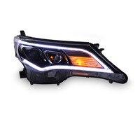 Ownsun New Eagle Eyes LED DRL Bi xenon Projector Lens Headlights For Toyota RAV4 2013 2015