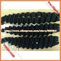 "Gift Ring Wholesale Brazilian Hair Extensions, 4pcs/lot MIX Length 14""-28"", Color 1b, Remy Hair Machine Weft DHL Free Shipping"