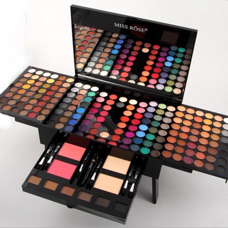Maquillage Set Glitter Mat Fard À Paupières Poudre Blush Cosmétique Cas Boîte 10 Professionnel Multifonctionnel