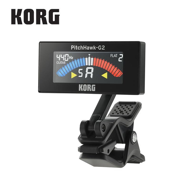 KORG AW3G2BK PitchHawk G2 Clip-On Guitar Tuner With Color LCD, Black