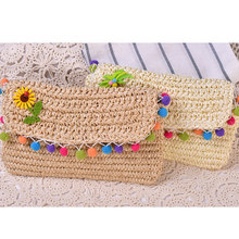 JULY S SONG New arrival famous brand design 2017 women hand bag Weave beach bags Travel