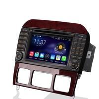 DAB+Android 7.1 Autoradio GPS RDS DVD CAM IN AUX DVR Bluetooth Navi BT Car Radio for Mercedes S/CL W220 W215 S500 CL600