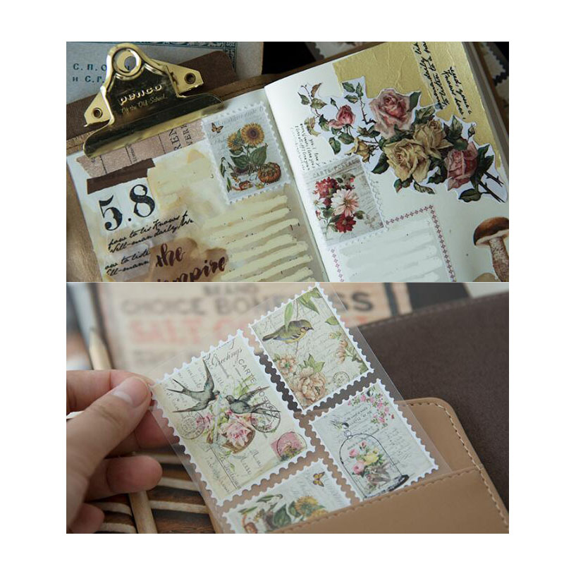 retro selos etiqueta decoração diy ferramenta mini