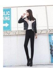Euro 2016 elastic woolen thick women leggings plus size S-2XL high quality Autumn winter fashion all match pencil girl pants F41