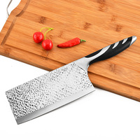 7 Professional Cleaver Knife Stainless Steel with Ergonomic Handle/Chinese Meat Cleaver/Butcher knife/Chopper Vegetable Cutter