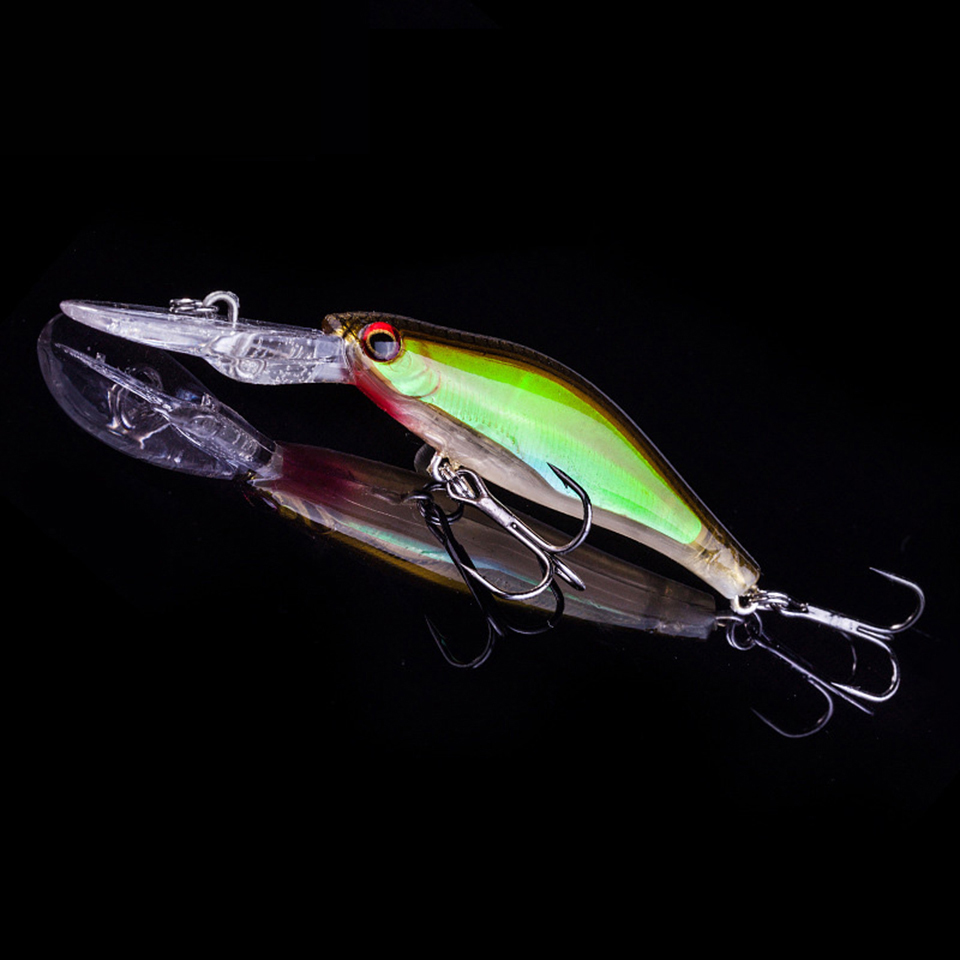 1PCS 3D Luminous Night Fishing Minnow Lure 9cm 7.3g Isca Artificial Hard Fishing Bait Minnow Lures Tackle With 2 Hooks Pesca 1pcs fishing lures 3d luminous night fishing minnow lure isca artificial wobbler bait hard bait lure hook tackle fish lure
