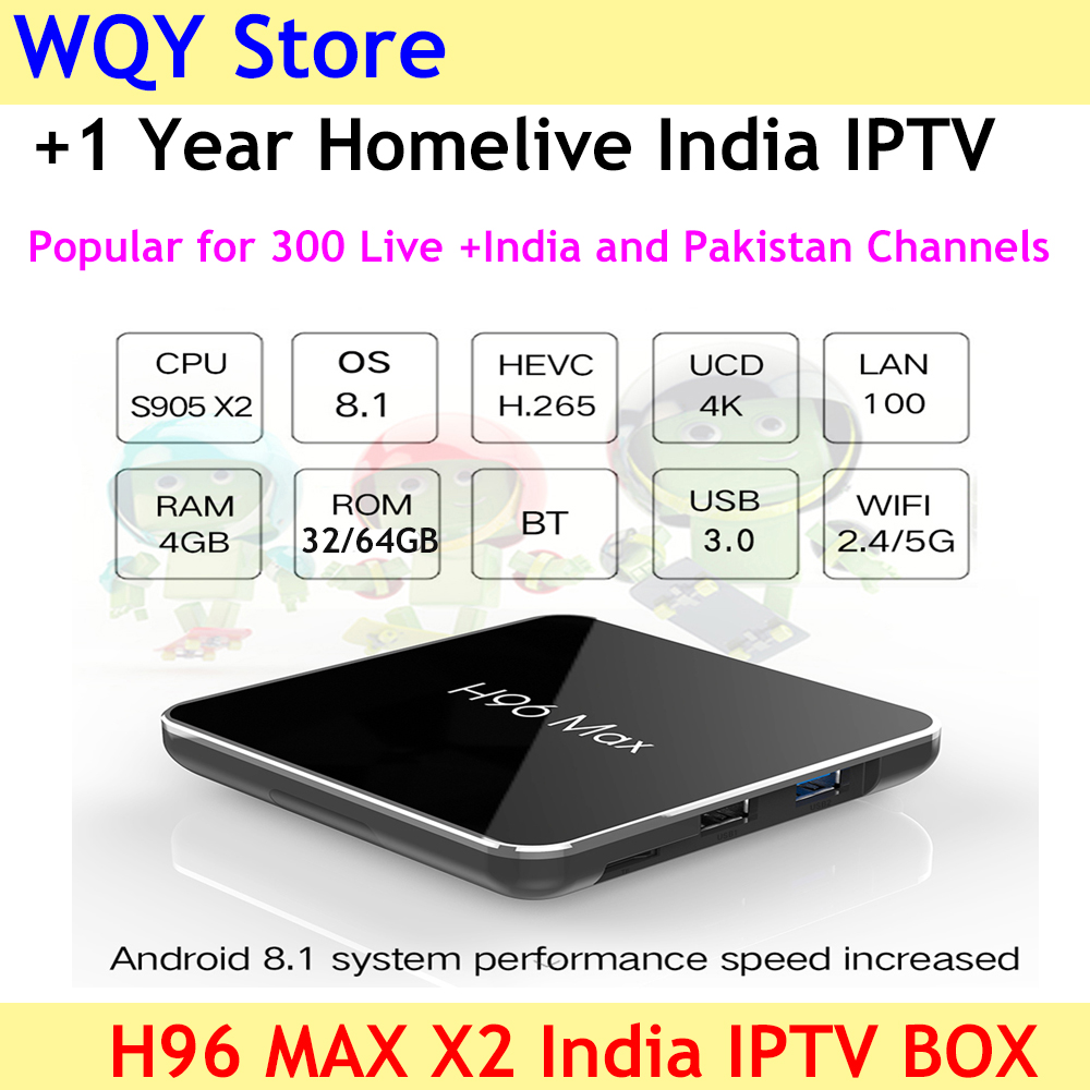 2019 NEW ARRIVAL H96 MAX X2 Android 8 1 4KH 265 smart TV Box with homelive