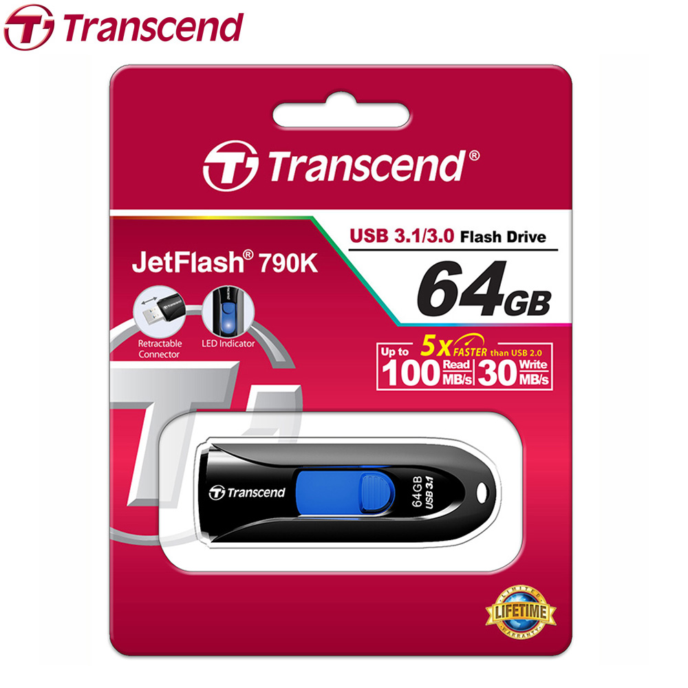 Transcend 790 Usb-Flash-Drive Memory-Stick High-Speed 64GB 32GB 16GB Business 8GB Pen