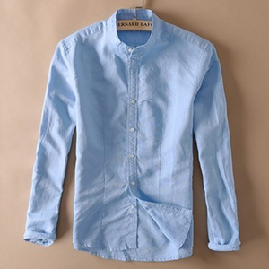 Image 3 - אופנה גברים כותנה פשתן חולצות קלאסי גברים הסיני מנדרינית צווארון ארוך שרוול Slim מוצק לבן לנשימה רך פשתן חולצה XXL