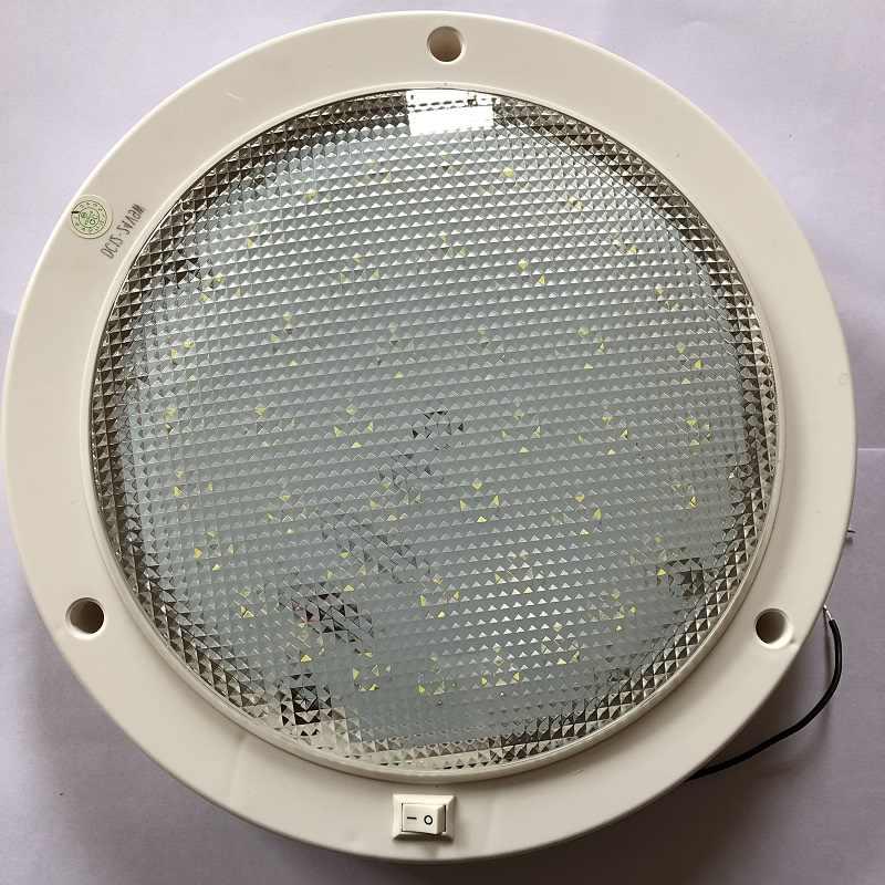 12 V-24 V DC Светодиодный светильник теплый белый свет купола 220 мм потолочный светильник Караван/кемпер, прицеп/РВ кемпинговые аксессуары