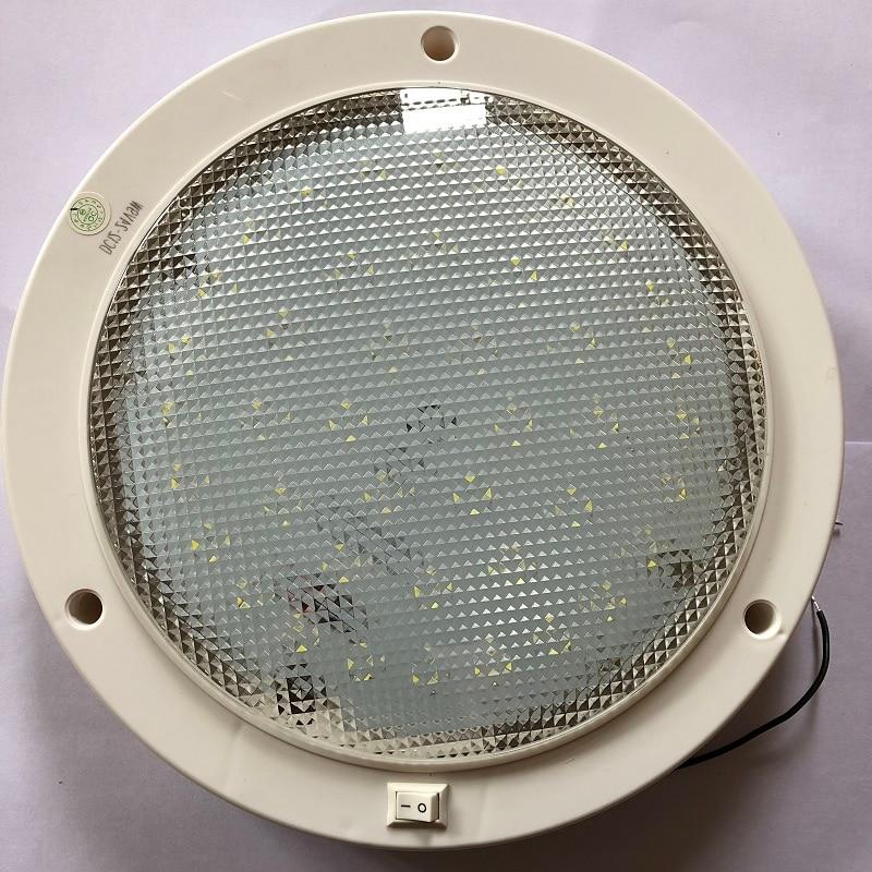 RWB*2 12V-24V LED Plafonnier Interrupteur ON//OFF Pour Caravane//camping-car//remorque//bateau Montage en surface