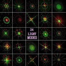 24 Renderings Laser Licht Im Freien Wasserdichte IP65 RF Rote Grüne weihnachten laser projektor lampe Bar DJ party bühnenlicht