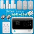 G90B Умный дом сигнализация IOS и Android APP контролируемых Wifi сигнализация с GSM, GPRS, RFID сигнализация системы для дома, офиса, магазина