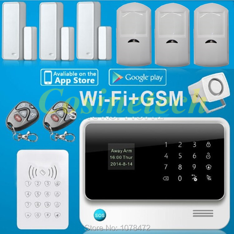 Latest G90B PLUS Smart home alarm system IOS&Android APP controlled Wifi Alarm system with GSM,GPRS,RFID alarm system ios android app remote control smart power socket wireless burglar alarm security system gsm gprs wifi alarm system g90b