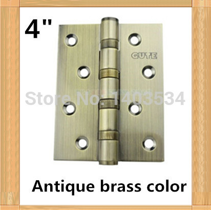 one pair 2pcs top brand GUTE High Quality 4 inch furniture hinge 304 stainless steel hinge Antique brass color door hinge free shipping 2 pieces lot antique copper finished 304 stainless steel hinges door hinge antique wood door hinge