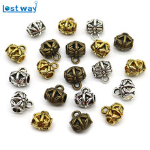 20pcs/lot Big Hole European beads Hollow Connectors Flower Metal Clasps & Hooks For Jewelry Making Wholesale 10x8mm,hole 3mm